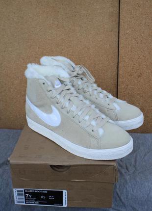 Зимние ботинки nike blazer boot 407898-200 замша оригинал 39,4...