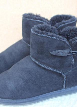 Угги noiz замша овчина гермагия 40р ботинки зимние
