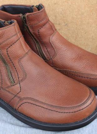 Зимние ботинки gallus кожа германия 43р непромокаемые на меху
