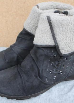 Новые ботинки marc замша германия 42р зимние