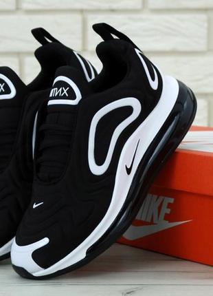 🌼nike air max 720 black white🌼женские кроссовки найк, демисезо...