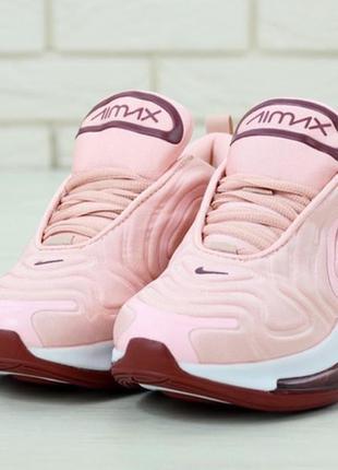 Женские кроссовки найк nike air max 720 pink, розовые демисезо...