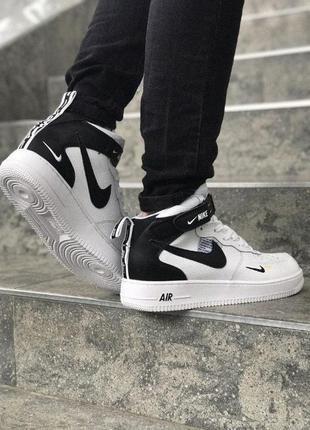 Кроссовки демисезонные Nike Air Force Hight БЕЛЫЕ 41-46р