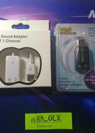 Адаптер (5.1) USB звуковая карта внешняя блютуз приёмник для пере