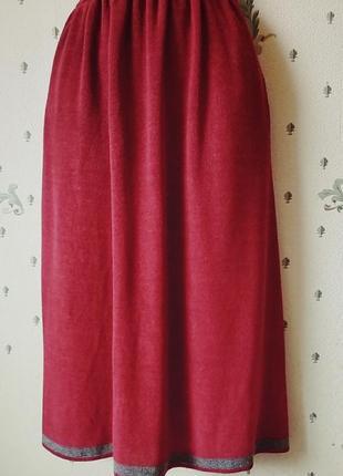 Barbara age  дизайнерская трикотажная юбка шелк