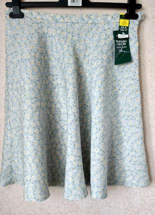 #marks &spencer #лёгкая летняя юбка  в цветочек шебби шик р 16
