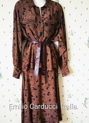 Emilio carducci  костюм блузка + юбка р 10