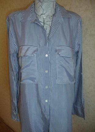 Фирменная zara стильная натуральная блузка на 50-52 размер новая