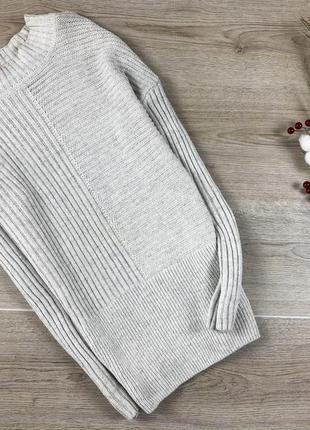 Крутой  свитер/пуловер бледно-серого цвета atmosphere