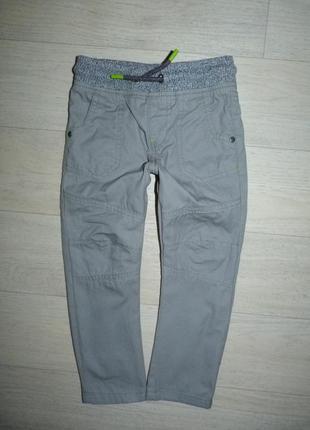 Котоновые штаны, брюки подкладке f&f 2-3 года