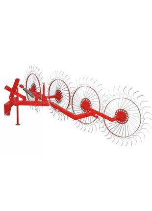 Грабли колесно-пальцевые «Солнышко» на 4 колеса для тракторов
