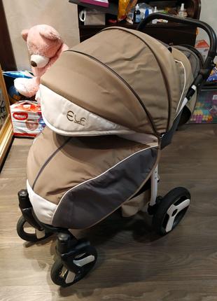 Продам прогулочную коляску Camarelo ELF бежевая с зимним карманом