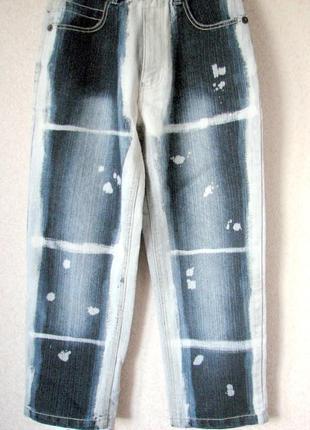 #raw blue  #джинсы тай дай варенки высокая талия  новые без те...