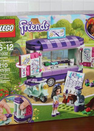 Конструктор лего LEGO Friends Мольберт Эммы 210 деталей, оригинал