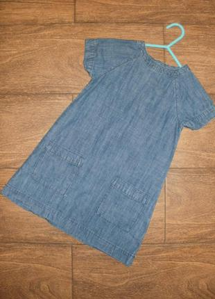 Джинсовое платье на 3-4 года