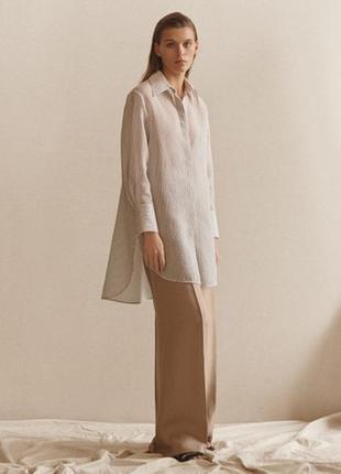 Fun factory белое платье- рубашка, туника хлопок, длинный рукав