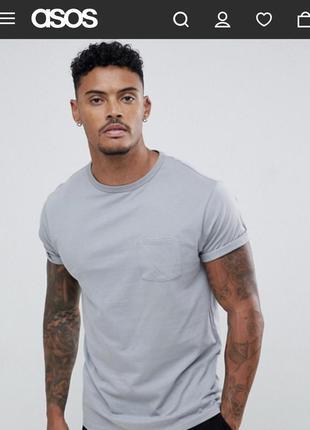 Базовая серая футболка от river island