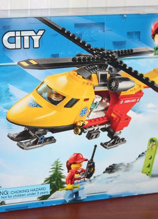 LEGO City Ambulance Helicopter 190 дет. лего вертолет вертолет ск