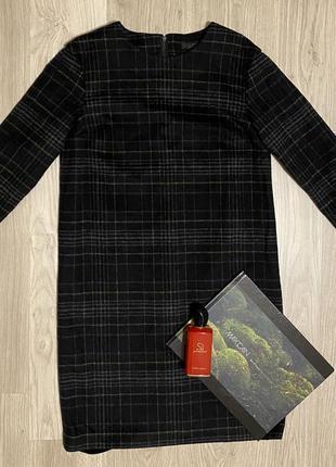 Шерстяное платье cos с молнией сзади