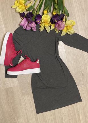 Базовое серое платье primark