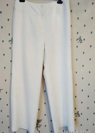 Coast белые брюки палаццо лен на подкладке р 12 классика