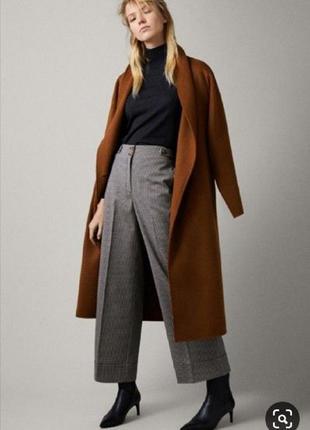 Серые кюлоты в клетку штаны широкие брюки классические сірі в ...