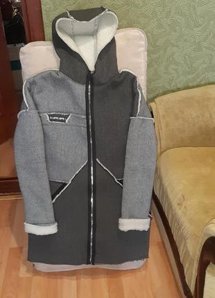 Пальто , кофта теплая на флисе
