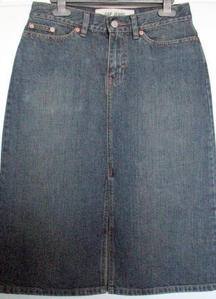 Юбка карандаш джинсовая gap высокая талия винтаж
