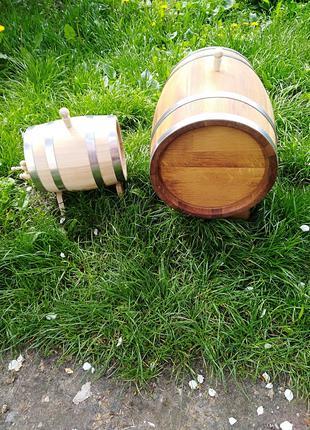 Бочки 1-100 литров дубовые -радиальная клепка.