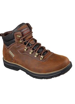 Skechers ● р45-48 ● waterproof ● кожаные водонепроницаемые бот...
