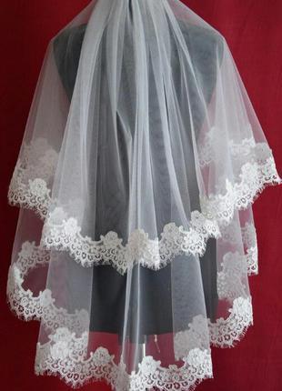 Свадебная фата шантильи