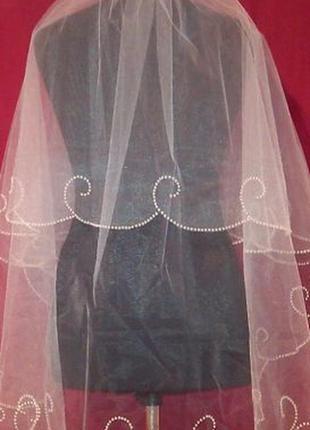 Свадебная фата волна