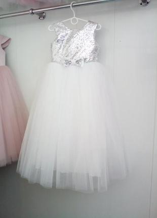 Детское платье с паеткой