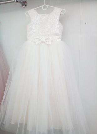 Детское платье с блеском