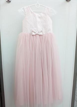 Детское платье пудра