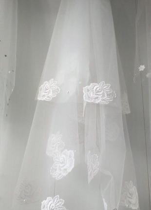 Свадебная фата роза