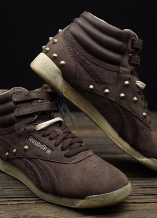 Високі шкіряні кросівки reebok оригинал р-41 стелька 27 см