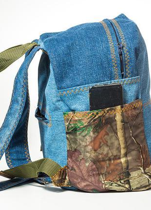 Рюкзак джинсовый для ручной клади в лоукостах