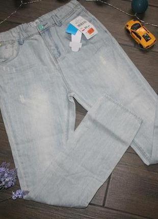 Подростковые светлые джинсы на парня 13-14 лет (164)