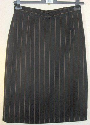 Skirt richards юбка карандаш в тонкую полоску р 16 высокая талия