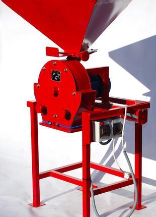 Зернодробилка ДКУ на 4 кВт до 650 кг/час 220-380В Кормоизмельчите