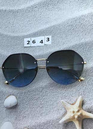 Женские солнцезащитные очки синие к. 2643
