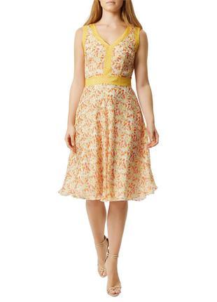 Damsel in a dress легкое миди платье из тончайшего шёлка, р.14...