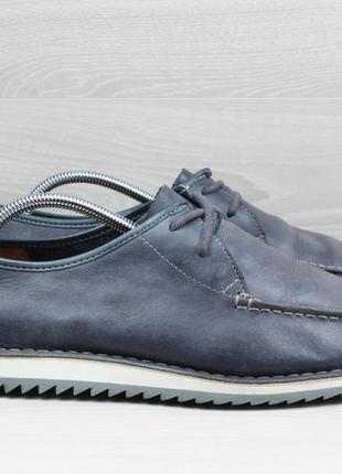 Мужские кожаные мокасины / туфли clarks originals, размер 45
