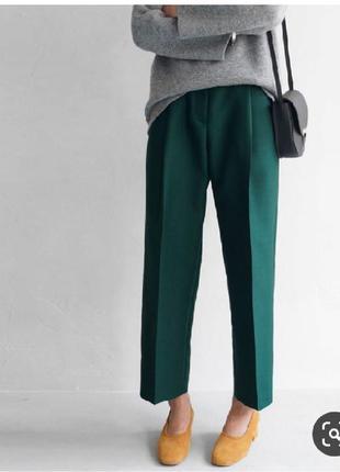 Классические брюки штаны изумрудные бутылочного цвета класичні...