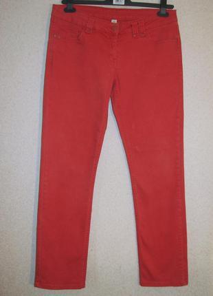 Красные джинсы р 14 прямые