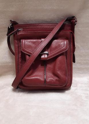 Наплечная кожана сумка clarks