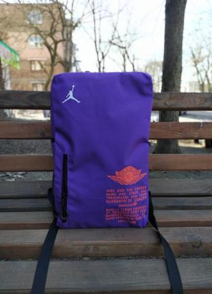 Рюкзак jordan air purple топ хайп