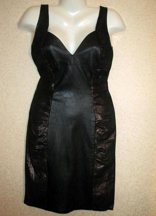 Jacques sac   винтажное черное платье- футляр  натуральная кож...