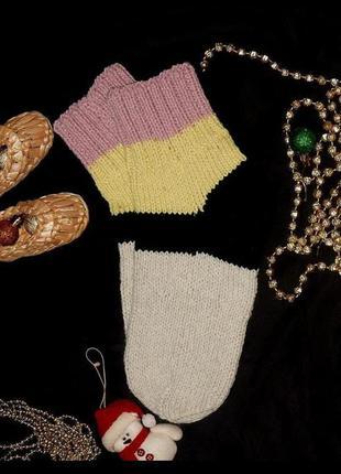 Яркие вязаные носки теплые,супер качество,супер цена